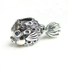 .925 Sterling Silver Lovely 3-d Goldfish Dangle Bead for European Charm Bracelet
