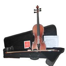 Zest 4/4 OU 3/4 tailles Student & école en bois du violon ébène parties, haut