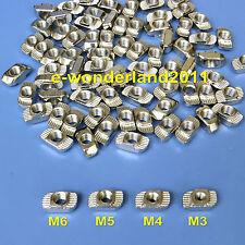 100pcs T sliding nut block M3/M4/M5/M6 for 30 series aluminum profile slot 8mm
