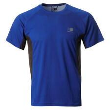 Mens Karrimor Aspen Tech T-Shirt Running Cycling Fitness Top Surf Blue/Charcoal