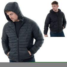 Mens Threadbare Padded Zip Up Jacket Coat With Hood Zip Sizes S-XXL (Garfield)
