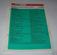 Inspektionsblatt Yamaha RX 80 SE Typ 12N - ab 1983 !