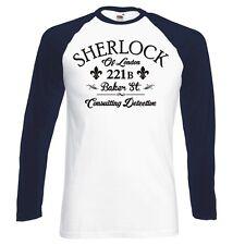 "Sherlock Holmes ""Consulente Investigativo"" raglan, MANICHE LUNGHE Baseball T-shirt"