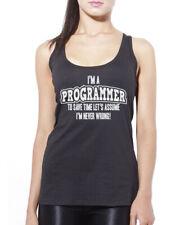 I'm a Programmer … Lets Assume I'm Never Wrong! Womens Vest Tank Top