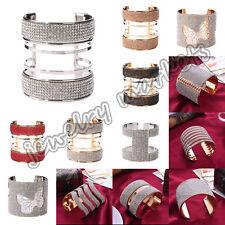 Women Fashion Rhinestone Crystal Bracelet Adjustable Bangle Charm Cuff Jewelry