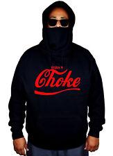 Mens Red Enjoy A Choke Mask Hoodie Martial Arts BJJ Jiu Jitsu MMA Sweater Jacket