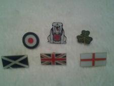 British Bulldog - St George - Scotland - Ireland - RAF MOD Flag Badges BRAND NEW