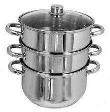 COPERCHIO Amos 3-Tier 20cm acciaio inox lavabili in lavastoviglie ad induzione a Vapore Pentola Set