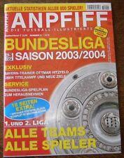 FUSSBALL SONDERHEFT ANPFIFF BUNDESLIGA 2003/04   RAR