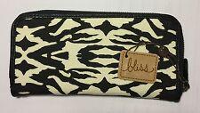 Bliss Women Teens Clutch Wallet  Zipper closure - Zebra design