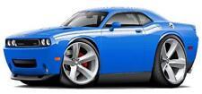 2009-2011 Challenger RT B5 Wall Decal Blue Dodge Sticker Garage Man Cave Decor