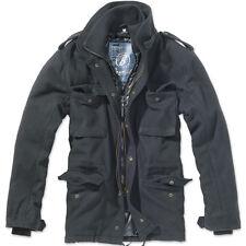 Brandit Mens M65 Voyager Field Jacket Warm Police Wool Coat Security Parka Black