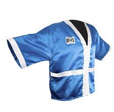 Cleto Reyes Corner Staff Satin Boxing Robe - Blue/White