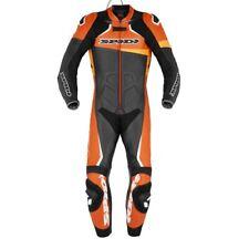 Tuta Suit Traje Anzug pelle RACE WARRIOR PERFORATED SPIDI Nero Arancio UOMO moto