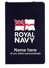 Notebook. Royal Navy logo / ensign / badge