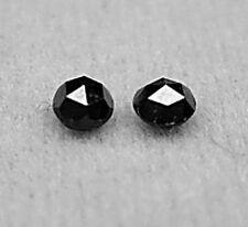 0.30+ Carats 2 Black Rose Cut ROUGH DIAMONDS Pair
