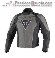 Giacca Dainese Laguna Seca D-Dry Nero Dark-Gull-Gray Giallo-Fluo Moto Jacket
