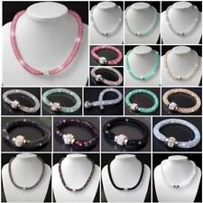 Necklace Bracelet Rhinestone Net Hose Magnetic Clasp Stainless Steel Ladies VS16