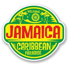 2 X Jamaica Jamaica Etiqueta Auto Moto Ipad Laptop viaje Equipaje Tag Regalo # 5750