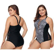 8b76f1424bbd Talla grande estampado monokini recorte traje de baño una pieza mujer  bañador