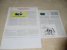 Shure M97HE Cartridge Review, 3 pgs, 1981, Rare Test!