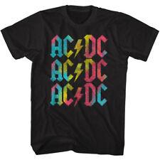 AC/DC T-Shirt Multicolor Logo Black Tee