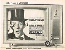 PUBLICITE ADVERTISING  1965    DUCRETET THOMSON   la multivision