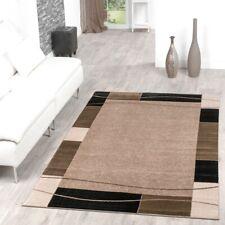 Tapis Abordable Bordure Design Moderne Tapis Pour Salon Beige Noir Super Prix