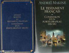 Le testament français / Confession d'un porte drapeau déchu // Andreï MAKINE