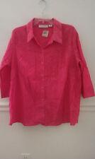 SAG HARBOR Women Pink Shirt Plus Sizes P1X, PXL, 1X, 2X. AND 3X