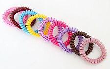 Chouchou Ressort x1 / Bracelet Elastique Fil Téléphone Accessoire Cheveux - Rayé