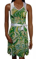 C015 - Ladies Green & White Satin Prom Day Dress - UK 6/8 & 8/10