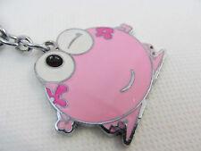 GRANDE Carino OCCHIOLINO frog Rosa Metallo Smalto Portachiavi Ciondolo Idea Regalo UK Venditore