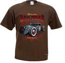 Camiseta Marrón V8 US Car OLDSCHOOL HOT rod-& `50 stylemotiv Modelo rat trap