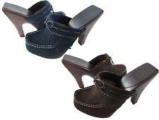 Frye Womens Lacey Fringed Clogs Moc-toe Platform Slip-On Mules Heels Shoes