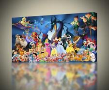 Disney Characters CANVAS PRINT Wall Art Decor Giclee Kids *4 Sizes* CA20