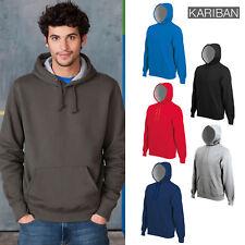 RW717 Kariban Mens Heavy Contrast Hooded Sweatshirt Hoodie 6 Colours XS-3XL