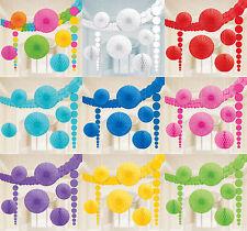 XL Party Deko 9-tlg. Geburtstag Dekoset Hochzeit Dekoration freie Farbwahl