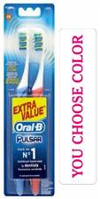 Oral-B Pro-Expert Pulsar Medium Vibrating Toothbrush Twin Pack