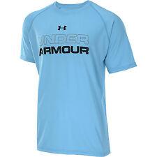 under armour mens core training anti odor short sleeve shirt island blue sizes