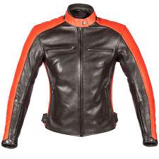 Spada Turismo Ladies Motorcycle Motorbike Leather Jacket - Black-Autumn Sun