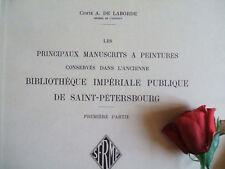 LABORDE ( COMTE  A. DE ) MANUSCRITS A PEINTURES 1937