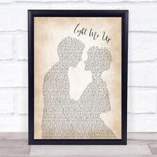 Light Me Up Man Lady Bride Groom Wedding Song Lyric Quote Print