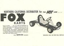 Vintage & Rare 1963 Fox Flyweight Go-Kart Ad
