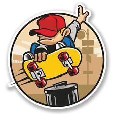2 x Skater Skateboard Vinyl Sticker Laptop Travel Luggage #4211