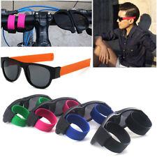 Fashion Slap Sunglasses Creative Wristband Slappable Glasses Snap Bracelet Bands