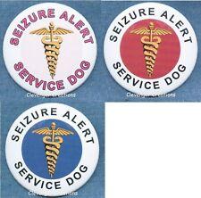 SEIZURE ALERT SERVICE DOG service dog patch PIN button