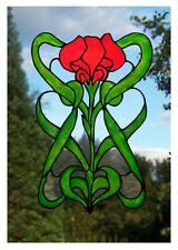 Art Nouveau en Verre Coloré Effet Fenêtre Art Decor s'accrocher