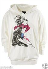 Outfitters Nation Streetwear Fashion Kapuzensweatshirt creme Gr. M