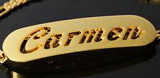 18k Plateó la Pulsera de Oro Con el Nombre - CARMEN - Regalos Para Mujeres